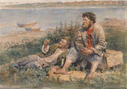 Fishermen by the Volga | Vladimir Yegorovich Makovsky | Oil Painting
