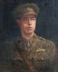 Portrait of a Young Royal Flying Corps Officer | Henry Jamyn Brooks | Oil Painting