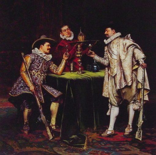 The Toast | Adolphe Alexander Lesrel | Oil Painting