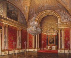 Petrovsky Hall in the Winter Palace | Eduard Gau | Oil Painting
