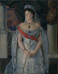 Portrait of Grand Duchess Maria Pavlovna the Elder | Boris Mikhailovich Kustodiev | Oil Painting
