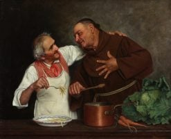 Monk and Chef | Alessandro Sani | Oil Painting