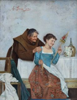 Monk with Servant Girl | Alessandro Sani | Oil Painting