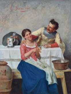 Cavalier with a Servant Girl | Alessandro Sani | Oil Painting