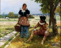 Flirtation | Adrien Moreau | Oil Painting