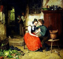 Courtship | August Jernberg | Oil Painting