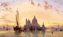 Sunset behind Santa Maria della Salute