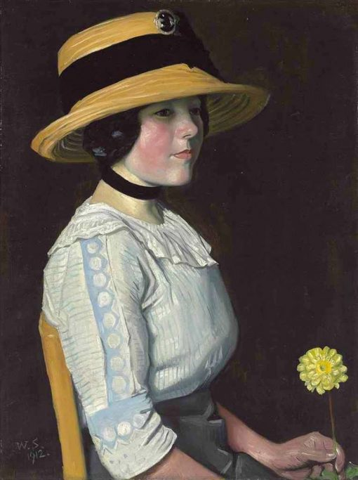 The Straw Hat | William Strang | Oil Painting