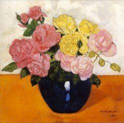 Roses   Max Buri   Oil Painting
