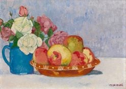 Still Life with Roses   Max Buri   Oil Painting