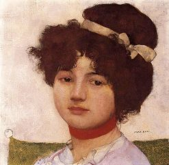 Head of a Young Girl   Max Buri   Oil Painting