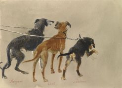 Prince Alberts dogs | Carl Haag | Oil Painting