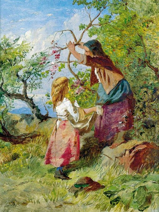 Fruit Picking | William Henry Midwood | Oil Painting