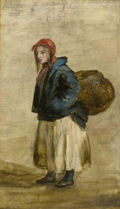 Fisherwoman Returning from Market | Patrick Allan-Fraser | Oil Painting