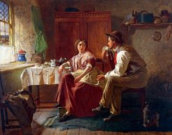 Rustic Courtship | William Henry Midwood | Oil Painting