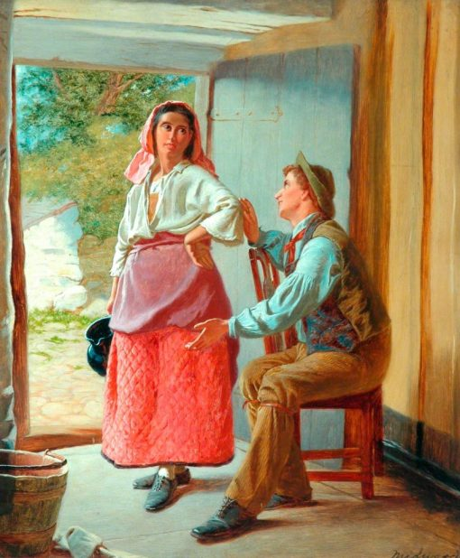 The Dairymaids Dilemma | William Henry Midwood | Oil Painting