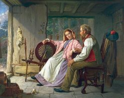 At the Crofters Wheel | William Henry Midwood | Oil Painting