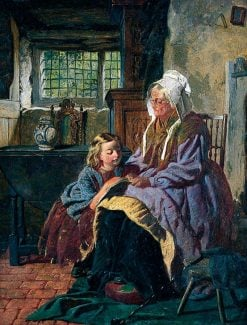 A Reading Lesson | William Henry Midwood | Oil Painting