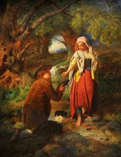 The Betrothal of Burns and Highland Mary | William Henry Midwood | Oil Painting