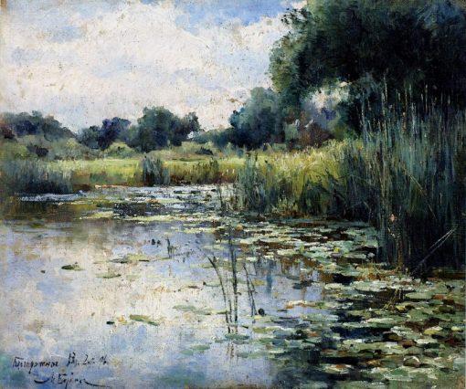 A Marsh | Mikhail Berkos | Oil Painting