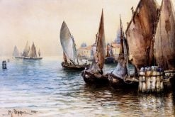 Boats in Venice | Mikhail Berkos | Oil Painting