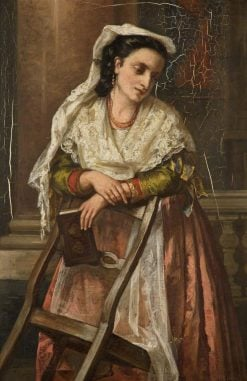 Girl in a Church in Rome | Patrick Allan-Fraser | Oil Painting
