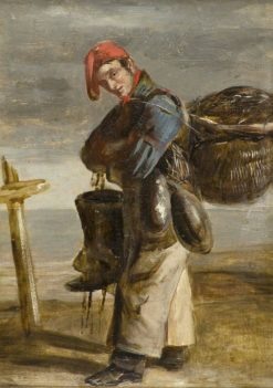 Forfarshire Fisherman Wearing Tackle | Patrick Allan-Fraser | Oil Painting