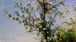 Apple Tree in Flower | Mikhail Berkos | Oil Painting