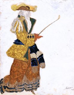 Costume Design for the Marchioness (Hunting) in The Sleeping Princess | Leon Bakst | Oil Painting