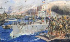 Desembarco de Alhucemas | Jose Moreno Carbonero | Oil Painting