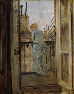 On the Balcony   Anton Romako   Oil Painting