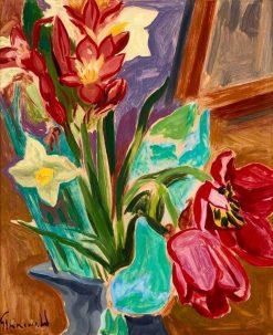 Flower Still Life   Isaac Grunewald   Oil Painting