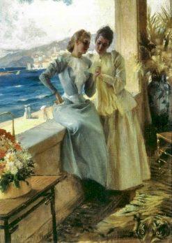 Terassilla   Albert Edelfelt   Oil Painting