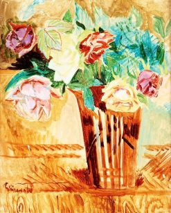 Still Life with Roses   Isaac Grunewald   Oil Painting