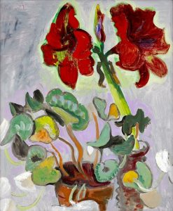 Still life with Amaryllis   Isaac Grunewald   Oil Painting
