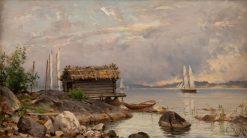 Early Morning in the Western Archipelago | Hjalmar Munsterhjelm | Oil Painting