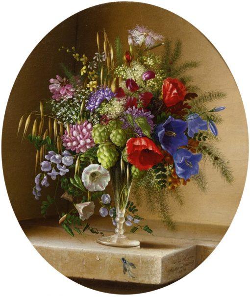 Floral Still Life   Adelheid Dietrich   Oil Painting