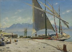 View of Vevey | Peder Mork Mønsted | Oil Painting