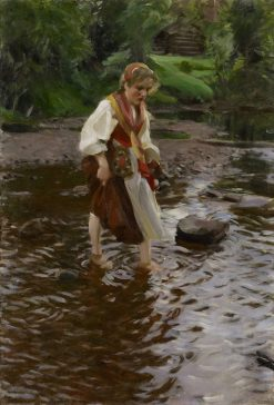 The Girl from Alvdalen | Anders Zorn | Oil Painting