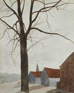 Tree near a village | Leon Spilliaert | Oil Painting