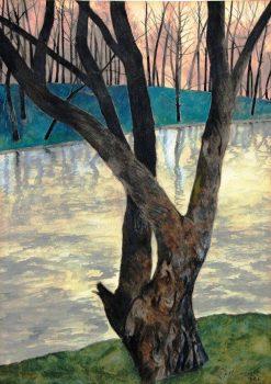 Landscape with Trees | Leon Spilliaert | Oil Painting
