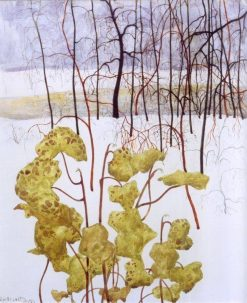 Winter landscape with ivy | Leon Spilliaert | Oil Painting