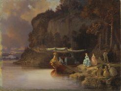 Carls Cliff. View of Edsviken | Johan Christoffer Boklund | Oil Painting