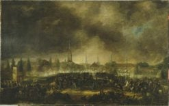 The Storming of Leipzig | Per Krafft the Younger | Oil Painting