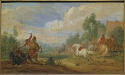 Cavalry Skirmish | Adam Frans van der Meulen | Oil Painting