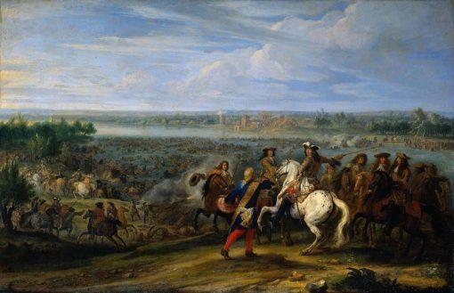 Crossing of the Rhine by French Troops | Adam Frans van der Meulen | Oil Painting