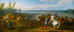 The crossing of the Rhine on 12 June 1672 | Adam Frans van der Meulen | Oil Painting