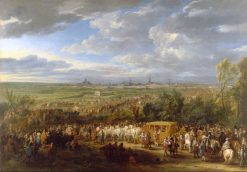 The entry of King Louis XIV and Queen Maria-Theresa in Arras on 30 July 1667 | Adam Frans van der Meulen | Oil Painting