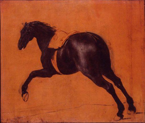 Black horse galloping   Adam Frans van der Meulen   Oil Painting
