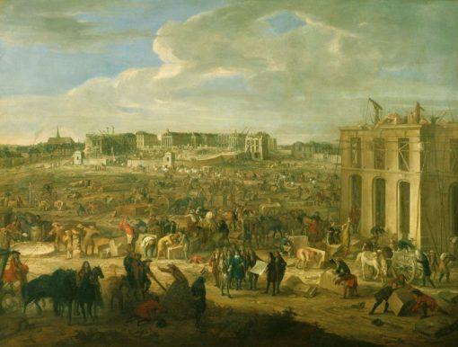 Construction of the Chateau de Versailles | Adam Frans van der Meulen | Oil Painting